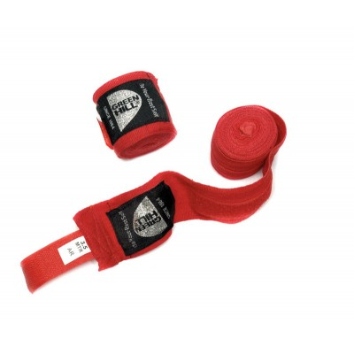 Боксерские бинты Green Hill эластичные красные 2,5 м | Сайд-Степ