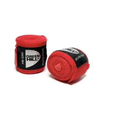 Боксерские бинты Green Hill эластик красные 4,5 м | Сайд-Степ