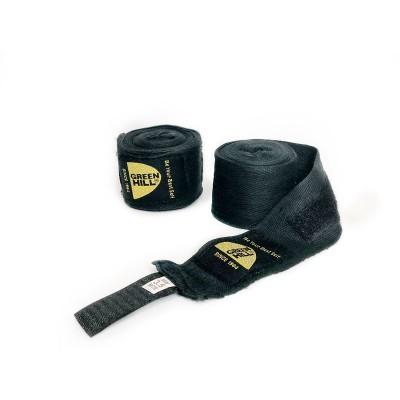 Боксерские бинты Green hill х/б черные 2,5 м - Сайд-Степ магазин спортивной экипировки
