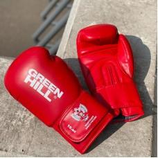 Боксерские перчатки Green Hill rex c лого ФБР красные
