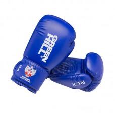 Боксерские перчатки Green Hill rex c лого ФБР синие