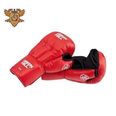 Перчатки для рукопашного боя Green Hill approved OFRB красные (кожа) - Сайд-Степ магазин спортивной экипировки