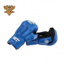 Перчатки для рукопашного боя Green Hill approved OFRB синие (кожа)