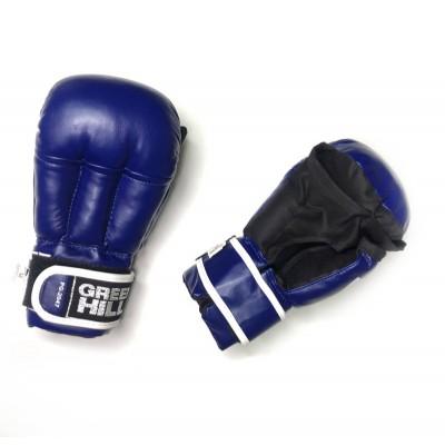 Перчатки для рукопашного боя Green Hill синие - Сайд-Степ магазин спортивной экипировки