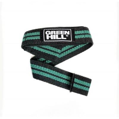 Лямки для тяги Green Hill черно-зеленые | Сайд-Степ
