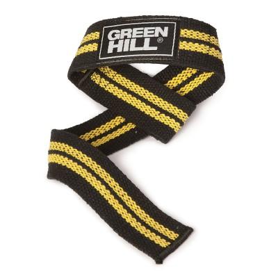 Лямки для тяги Green Hill черно-желтые - Сайд-Степ магазин спортивной экипировки