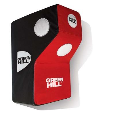 Настенная Г-образная подушка Green Hill красно-черная (45*60*42) в наличии в магазине Сайд-Степ