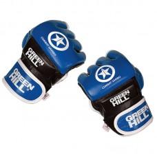 Перчатки ММА Green Hill combat sambo синие (кожа)