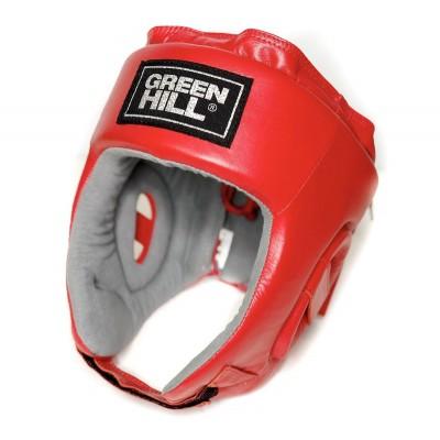 Боксерский шлем Green Hill triumph с лого ФБР красный | Сайд-Степ