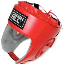 Боксерский шлем Green Hill triumph лого ФБР красный