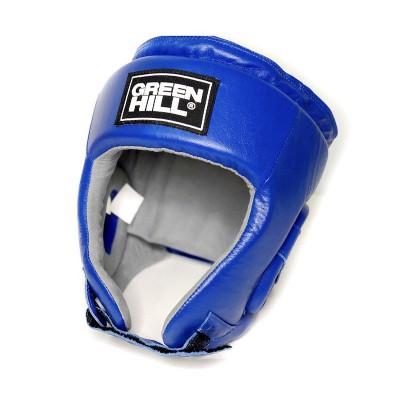 Боксерский шлем Green hill triumph с лого ФБР синий | Сайд-Степ