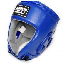 Боксерский шлем Green Hill triumph лого ФБР синий