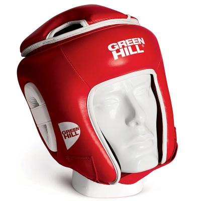 Боксерский шлем Green hill win красный | Сайд-Степ