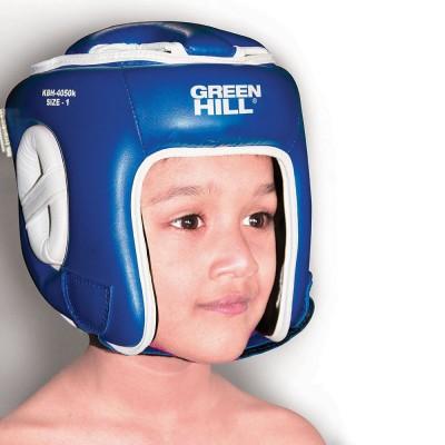 Детский шлем для кикбоксинга Green Hill синий | Сайд-Степ