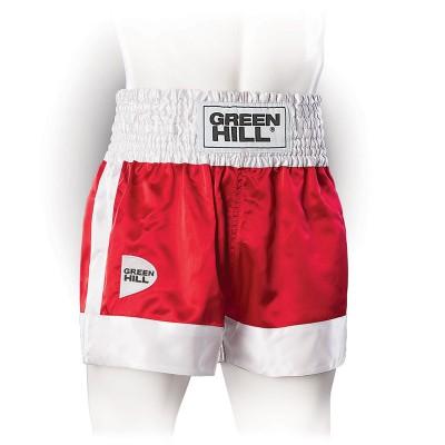 Шорты для единоборств Green Hill fighter красно-белые в наличии в магазине Сайд-Степ