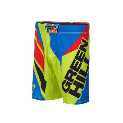 Шорты ММА Green Hill зелено-синие - Сайд-Степ магазин спортивной экипировки