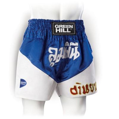 Шорты для тайского бокса Green Hill victory синие | Сайд-Степ