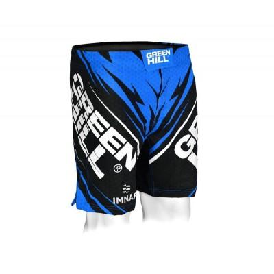 Шорты MMA Green Hill IMMAF синие | Сайд-Степ