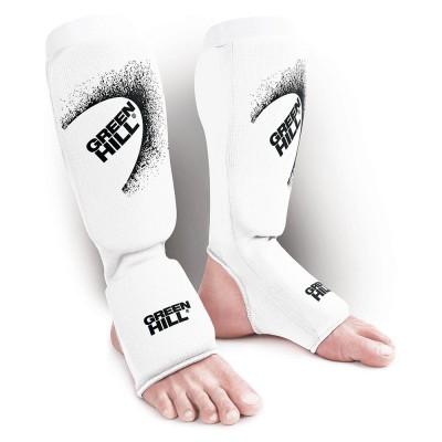 Тканевая защита ног Green hill эластик белая - Сайд-Степ магазин спортивной экипировки