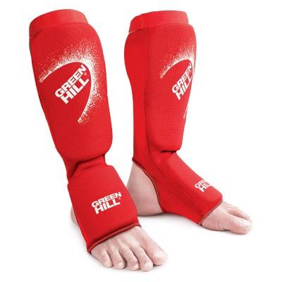 Тканевая защита ног Green hill эластик красная | Сайд-Степ