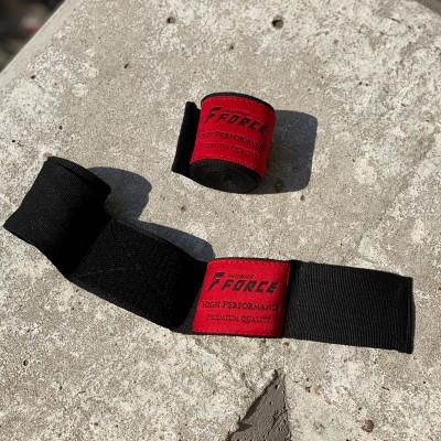 Боксерские бинты Infinite Force эластичные черно-красные 4 м в наличии в магазине Сайд-Степ