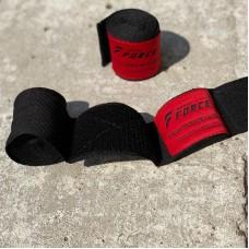 Боксерские бинты Infinite Force эластичные черно-красные 2.5 м