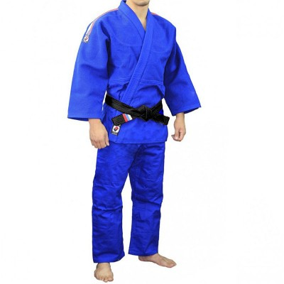 Кимоно для дзюдо Крепыш Я 'Стандарт' синее | Сайд-Степ