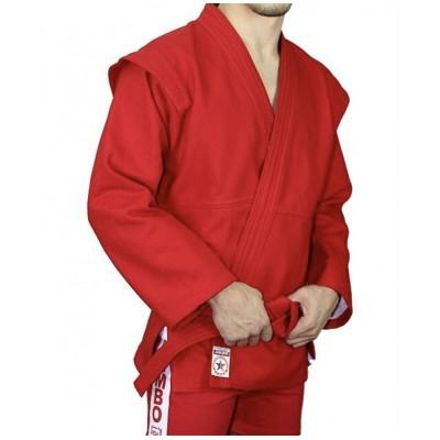 Куртка самбо Крепыш Я 'Атака' красная | Сайд-Степ