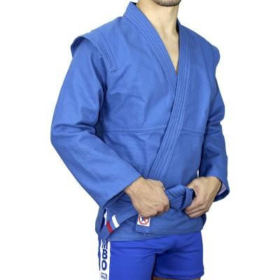 Куртка самбо Крепыш Я 'Атака' синяя | Сайд-Степ