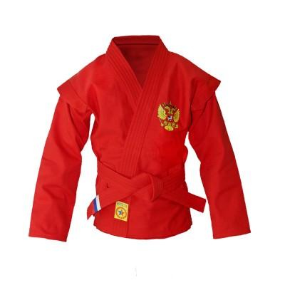 Куртка самбо Крепыш Я детская облегченная красная | Сайд-Степ
