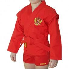 Детская куртка самбо Крепыш Я облегченная красная