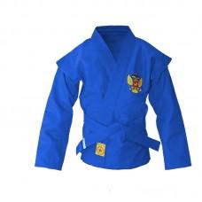 Детская куртка самбо Крепыш Я облегченная синяя