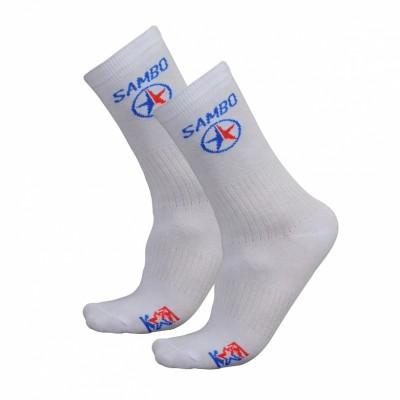 Носки Крепыш Я Самбо five star белые в наличии в магазине Сайд-Степ