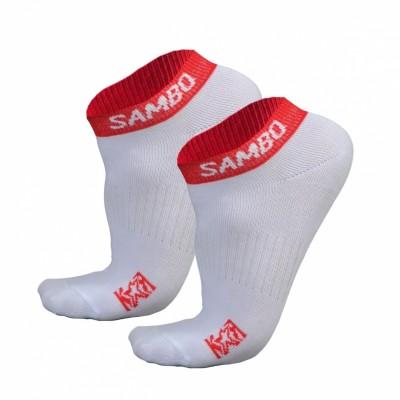 Носки Крепыш Я Самбо summer бело-красные в наличии в магазине Сайд-Степ