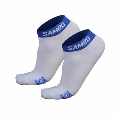 Носки Крепыш Я Самбо summer бело-синие в наличии в магазине Сайд-Степ