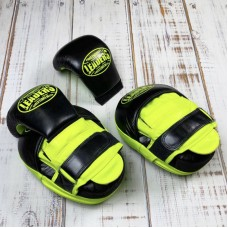Боксерские лапы Leaders dual черно-зеленые