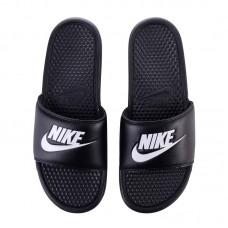 """Пантолеты Nike benassi """"Just Do It"""" черно-белые"""