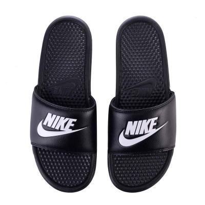 """Пантолеты Nike benassi """"Just Do It"""" черно-белые в наличии в магазине Сайд-Степ"""