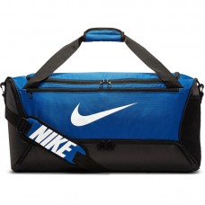 Спортивная сумка Nike brasilia duffel m black/light blue (60 л)