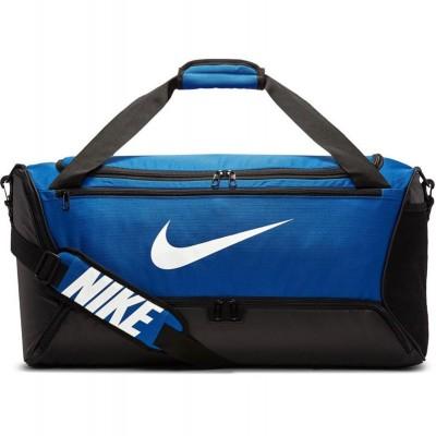 Спортивная сумка Nike brasilia duffel m black/light blue (60 л) в наличии в магазине Сайд-Степ