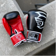 Боксерские перчатки Pretorian черно-красные