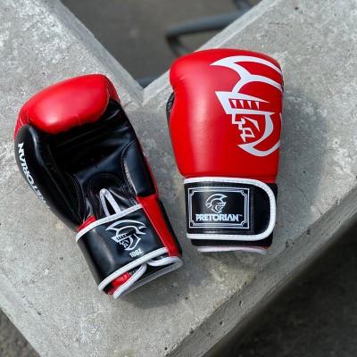 Боксерские перчатки Pretorian красно-черные | Сайд-Степ