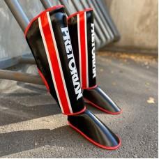 Защита ног Pretorian черно-красная