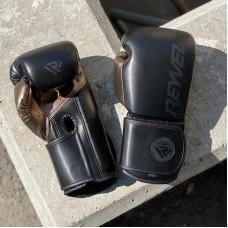 Боксерские перчатки Reyvel pro training mf черные