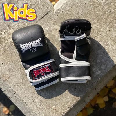 Детские ударно-захватные перчатки ММА Reyvel черные в наличии в магазине Сайд-Степ