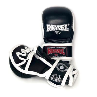 Перчатки MMA Reyvel черные - Сайд-Степ магазин спортивной экипировки