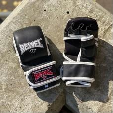 Ударно-захватные перчатки ММА Reyvel pro черно-белые