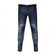 Детские компрессионные штаны Rusco sport black herb