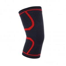 Эластичные наколенники черно-красные