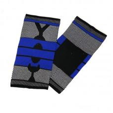Эластичные наколенники черно-синие удлиненные